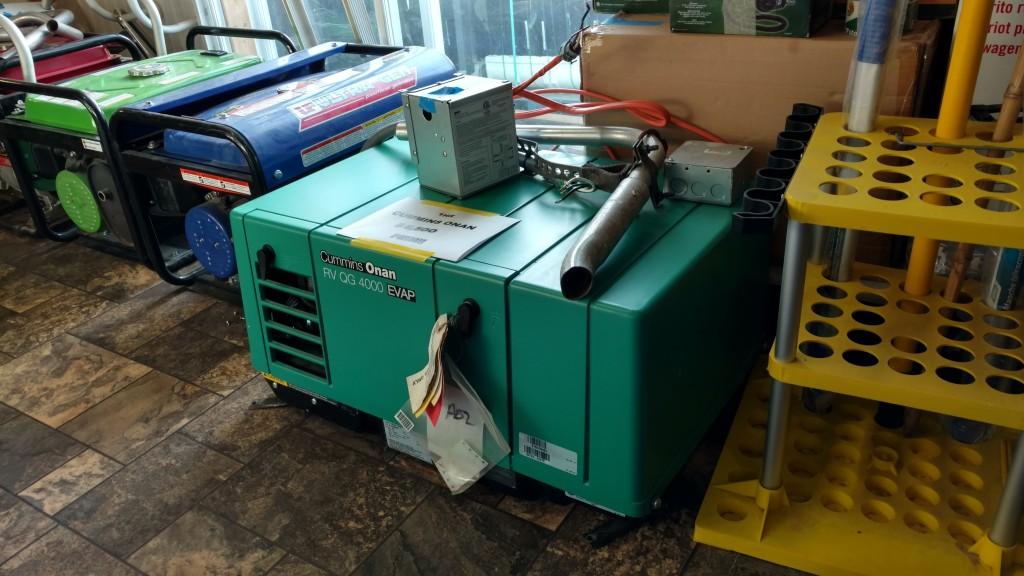 book container: Onan Generator 4000